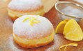 Donut with lemon Royalty Free Stock Photo