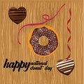 Donut National Day Illustration - Vector