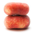 Donut peaches isolated on white paraguayos saturn chinese flat doughnut Royalty Free Stock Photography