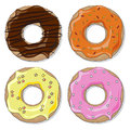 Donut set Royalty Free Stock Photography