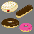 Donut set an image of a of donuts Royalty Free Stock Photo