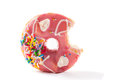 Donut with sprinkles isolated on white Stock Photos