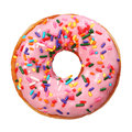 Donut with sprinkles isolated Royalty Free Stock Photo