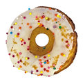 Donut with sprinkles Royalty Free Stock Photo
