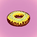 Donut. Vector drawing