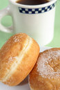 Donuts and coffee diner style cup Royalty Free Stock Photos