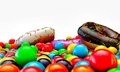 Donuts and gumballs Royalty Free Stock Image