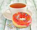 Donuts with icing Royalty Free Stock Images