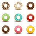 Donuts this image is a vector illustration Stock Image
