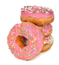 Donuts with pink icing Royalty Free Stock Photo