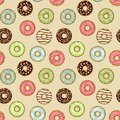 Donuts seamless pattern vector illustration Stock Photos