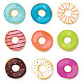Donuts set Royalty Free Stock Photography
