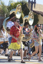 Doo Dah Parade High School Marching Band Royalty Free Stock Photo