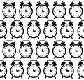 Doodle alarm clock seamless pattern background Royalty Free Stock Photo