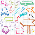 Doodle Arrows. Seamless background. Stock Photos