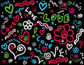 Doodle background Royalty Free Stock Image