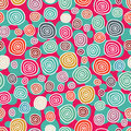 Doodle background with circles