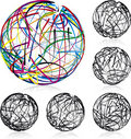 Doodle Balls Royalty Free Stock Photography