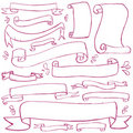 Doodle Banners Royalty Free Stock Photo