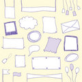 Doodle banners and frames with copy space Royalty Free Stock Image