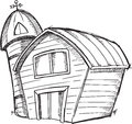 Doodle Barn Vector Royalty Free Stock Photo