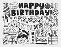 Doodle Birthday party background