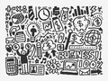 Doodle business element cartoon vector illustration Stock Photo