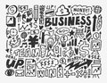 Doodle business element cartoon vector illustration Royalty Free Stock Photo