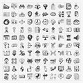 Doodle business icon cartoon illustration Stock Photo