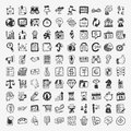 Doodle business icon cartoon vector illustration Royalty Free Stock Photography