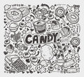 Doodle candy elements cartoon vector illustration Stock Photo