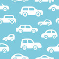Doodle cars background. Seamless baby boy pattern in vector.