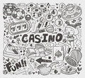 Doodle casino element cartoon vector illustration Stock Photos