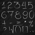 Doodle Chalky Numbers on blackboard