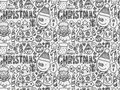 Doodle Christmas background pattern