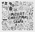 Doodle christmas element cartoon vector illustration Stock Image