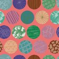 Doodle circle seamless abstract repeat pattern