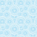 Doodle circle water texture seamless pattern Royalty Free Stock Photo