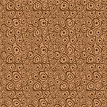 Doodle circles brown beige seamless background vector pattern with uneven on closely spaced to each other Stock Photography
