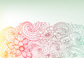 Doodle color floral background Royalty Free Stock Photo