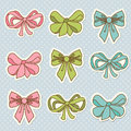 Doodle colored bow icons set of this is file of eps format Royalty Free Stock Photography