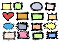 Doodle colorful frames Royalty Free Stock Photo