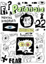 Doodle concept of paranoia mental disorders Stock Image