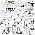 Doodle design elements hand drawn illustration Royalty Free Stock Photography