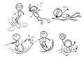 Doodle designs of different outdoor activities illustration the on a white background Stock Image