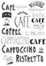 Doodle do café Foto de Stock Royalty Free