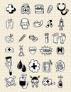 Doodle doctor element,hand draw Royalty Free Stock Images
