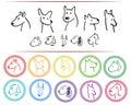 Doodle dog logo