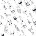 Doodle drinks pattern