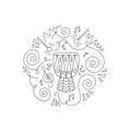 Doodle Drum coloring page.